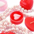 Red candles and necklace — Stock Photo #8079804