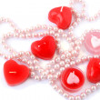Red candles and necklace — Stock Photo #8080068