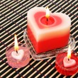 Red and pink candles - Zdjęcie stockowe