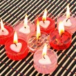 Red and pink candles — Stock Photo