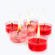 Red and pink candles — Stock Photo #8081526