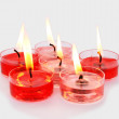 Red and pink candles — Stock Photo #8081538