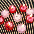 Red and pink candles — Stock fotografie