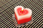 Red candle — Stock Photo