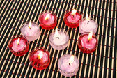 Red and pink candles — Stockfoto