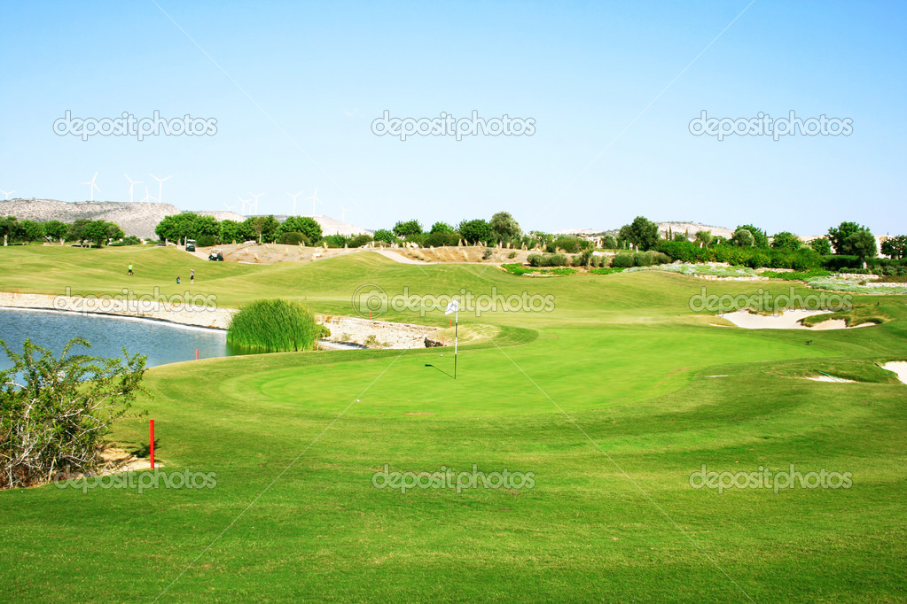 Golf field in Cyprus. — Stock Photo #8082896