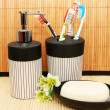 Stock Photo: Soap dispensers and bar
