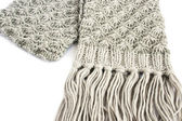 Gray scarf — Stock Photo