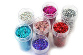 Ongles paillettes — Photo