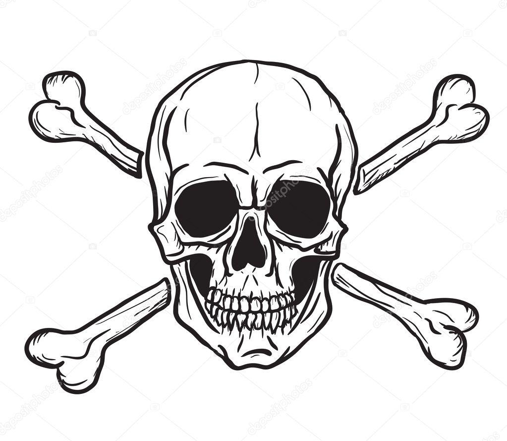 Cartoon Skull and Crossbones