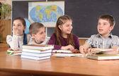 Elementary school pupils — Stock Photo