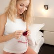 Present for pregnant woman — Stock Photo #8597508