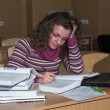 Foto de Stock  : Hard studying
