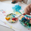 Baby painting — Stock Photo #8802360