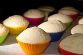Muffins in oven — Stock Photo