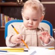Baby drawing — Stock Photo
