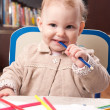 Baby drawing — Stockfoto #9267458