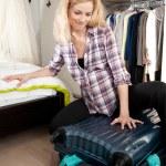 Packing travel bag — Stock Photo