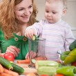 Stock Photo: Vegetable salad preparation