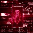 Fingerprint and code — Stock Photo