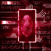 Fingerprint and code — Stock Photo