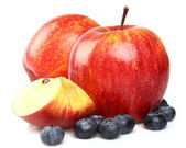 Apples with blueberry — Stock Photo