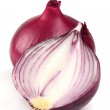 Red onion on a white background — Stock Photo