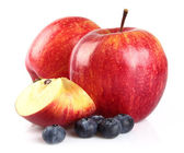 Apple with blueberry — Stock Photo