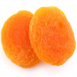 Two dried apricots - Stock Photo