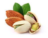 Almonds with pistachio — Stock Photo