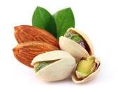 Almonds with pistachio — Stock Photo