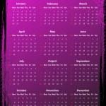 Vector American floral pink grungy calendar 2012 — Stock Vector #8154685