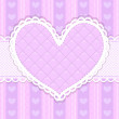 Vector pink and purple cute Valentines card — Stock Vector