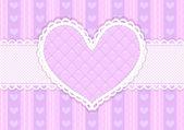 Vector pink and purple cute Valentines card — Stok Vektör