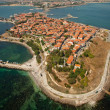 Stock Photo: Old Nessebar, aerial view