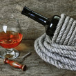 Glass of wine and a bottle — Stock Photo #10264618