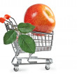 Royalty-Free Stock Photo: Fake apple in shopping carts