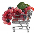 Bunch of grapes in shopping carts, fake — Stockfoto