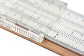 Vernier scale logarithmic ruler — Stock Photo