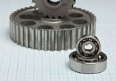 Gears and bearings — 图库照片