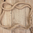 Frame made of rope — Stock Photo #8444330