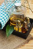 Set of perfume oils — Stock fotografie
