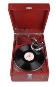 Ročník gramofon izolovaných na bílém — Stock fotografie