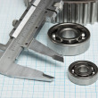 Caliper with gears and bearings — Foto Stock