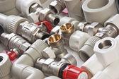Plumbing fittings — Stock Photo