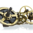 Clockwork gears isolated on white — Stock Photo #9102442