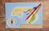 Maps of the coral islands — Stock Photo