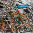 Heap old electronic components — Stockfoto