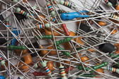 Heap old electronic components — Photo