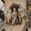 Vintage photo shows Red Army soldiers, the Russian Federation - Stock Photo